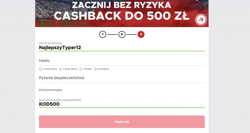 Bonus specjalny w BetClic. Kod promocyjny na cashback 500 PLN!