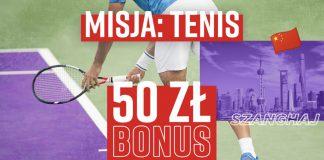 50 PLN od Betclic za obstawianie tenisa! Oferta specjalna na ten tydzień, czyli Misja Tenis!