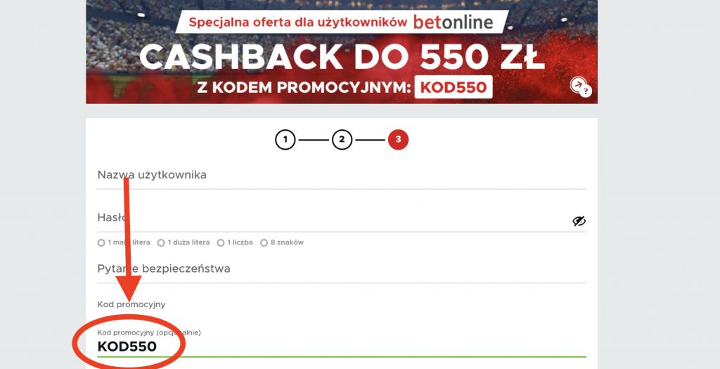 """Betclic kod promocyjny 2020. Bonus cashback 550 PLN! Wpisałeś""""KOD550""""?"""