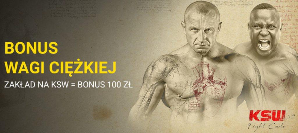 Gwarantowane 100 zł na obstawianie KSW 59!