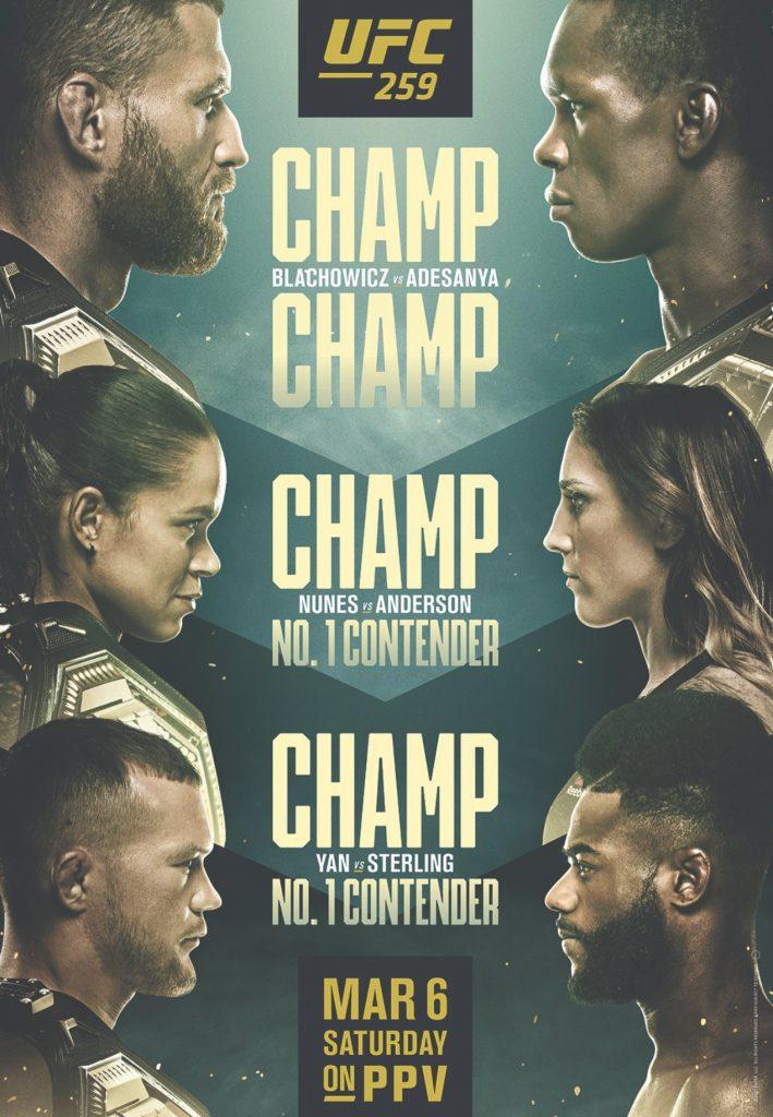 UFC 259 zakłady bukmacherskie