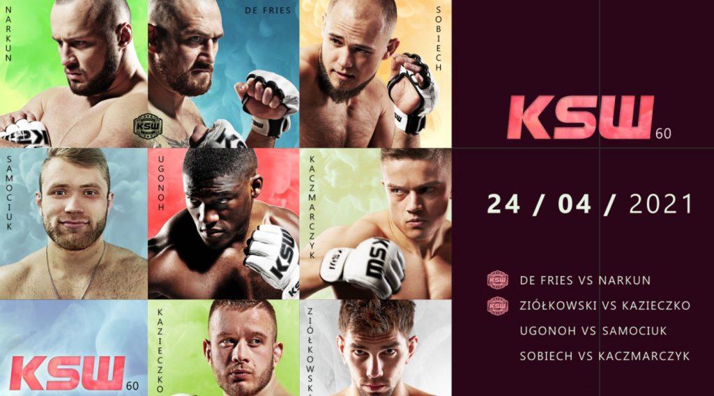 KSW 60 bonusy. Pewne 100 PLN + nawet 20000 PLN do wygrania!