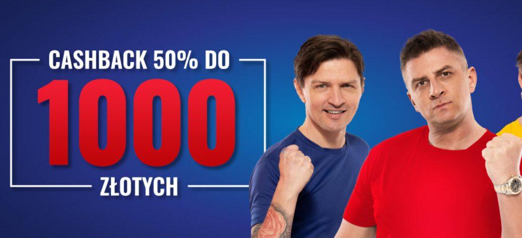 Zwrot w Etoto. Cashback bez obrotu do 1000 PLN!