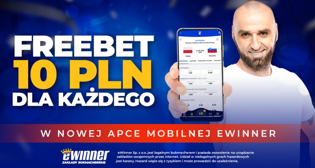 Bonus bez depozytu w eWinner. 10 PLN dla każdego!